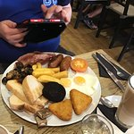 Large breakfast with additional black pudding...