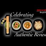 DOSA KING celebrates 1000 reviews via Google, thank you for sharing your feedback with us!