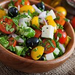 Home made Greek salad