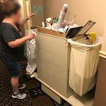 finding an abandoned cleaning cart