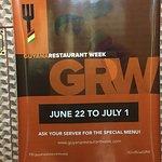 Restaurant week participant