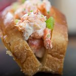 Maine lobster roll on toasted brioche baked daily...forget about it.