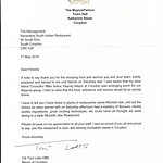 Croydon  Mayors report about our restaurant