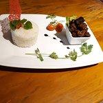 Rice and caramel pork