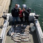 Amazing day fishing. Limited in halibut and salmon.