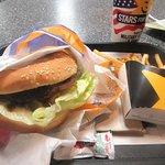 Teriyaki Burger and Fries, Dine In, Carl's Jr, Lone Pine, Ca