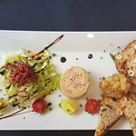 raclette burger & foie gras dishes