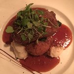 Prime grilled NY steak w/ merlot reduction