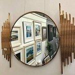 Cafe Interior - Gillian McDonald, Keith Proctor and Gordon Corrins on display