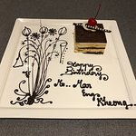 Special birthday cake from the hotel