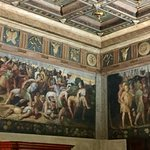 The history of Modena in Nicoló dell'Abate frescoes