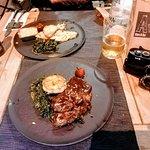 Etrecote Steak and Pablo Pilsner