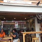 Shot break visit to tea shop