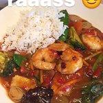Chilli prawns and veg yum!