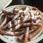 Beignet sticks...easier to eat and even better than Cafe DuMonde