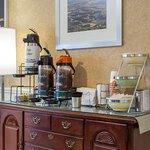 Enjoy coffee in the lobby