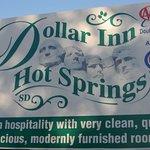 DollarInn HotSprings SD Sign