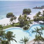 Ocean Wing Pool with beach top shot