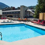 Best pool and bviews in Whistler!