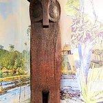 inside visitor center - owl totem