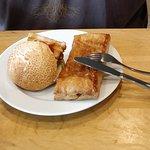 Yummy pork sandwich and sausage roll