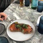 chicken liver toast
