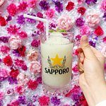 Lychee Mojito - Flower Wall on the Patio!
