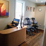 Desk and chair massage area