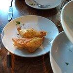 Tiropitakia flaky feta cheese pies