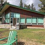 Whistler Cabin & patio, facing the lake