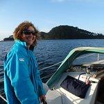 Sailing past Roberton Island.