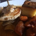 Pot roasted chicken with dauphinoise
