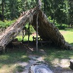 a hut that was home for the British soldiers at Frederica