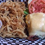 We enjoyed Woody's Delicious cheese bombs as an appetizer. I had the Woody burger for my meal. T