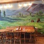 Beautiful hand-painted mural