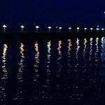 Rum Point pier at night