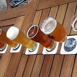 a tasting of draft craft beers