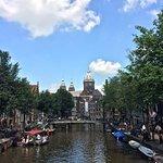 Bright view over the St. Nicholas Basilica, Amsterdam