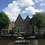 The charming canals and houses of Amsterdam.