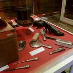 Accessories on display at the Sitwell Museum