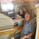 Michael & Tanya Boehm Enjoying the First Class Service