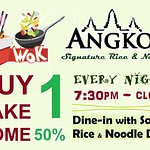 very enjoy the Rice & Noodle you just ate, take the same one home for 50% off