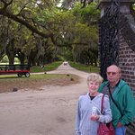 My Beautiful Better Half and me looking down the Avenue of the Oaks