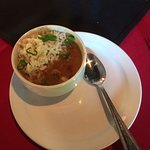 crawfish etouffee - smooth, rich with rice.
