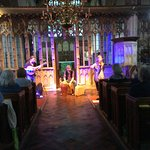 Baklava band Concert in St Marys Church infront Of stone screen