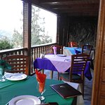 Restaurant`s outdoor seating area