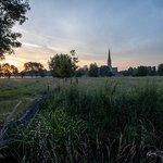 Sunrise across the meadows
