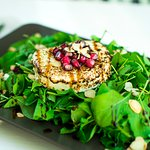 Roasted Almond and Goat Cheese Salad