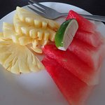 Fresh fruits that come with the American and Continental breakfast sets