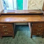 Large architects roll top desk needs a bit of tic but still a magnificent item.